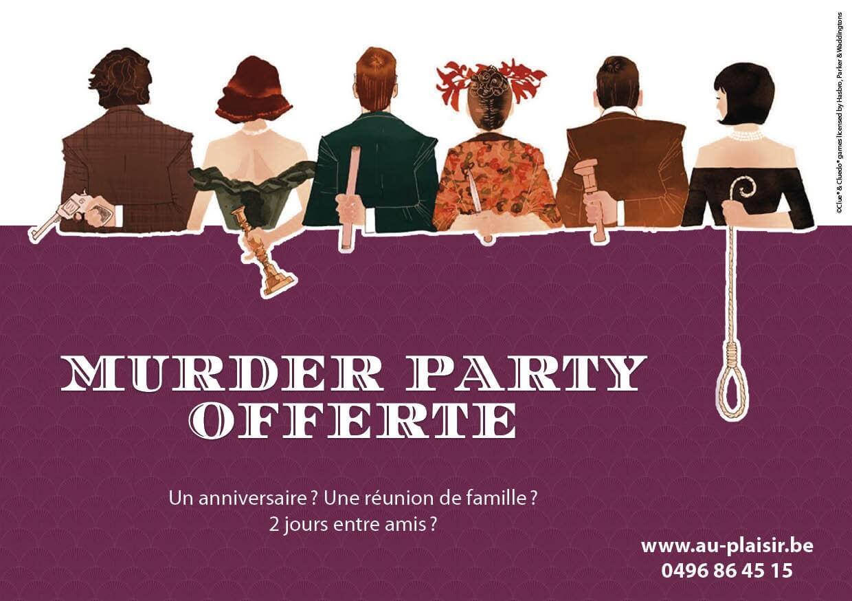 Au Plaisir - Murder party - jeu - Cluedo - gratuit